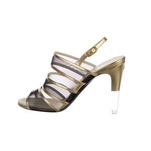 Chanel Open-Toe Slingback Sandals